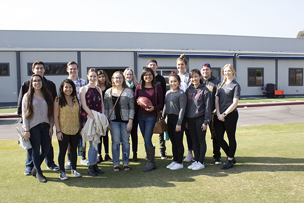 PRSSA Students Tour the Rams Training Facility
