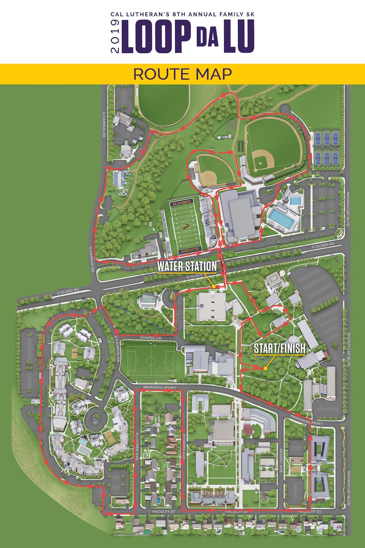 cal lutheran campus map Loop Da Lu 5k At Homecoming 2019 Cal Lutheran cal lutheran campus map