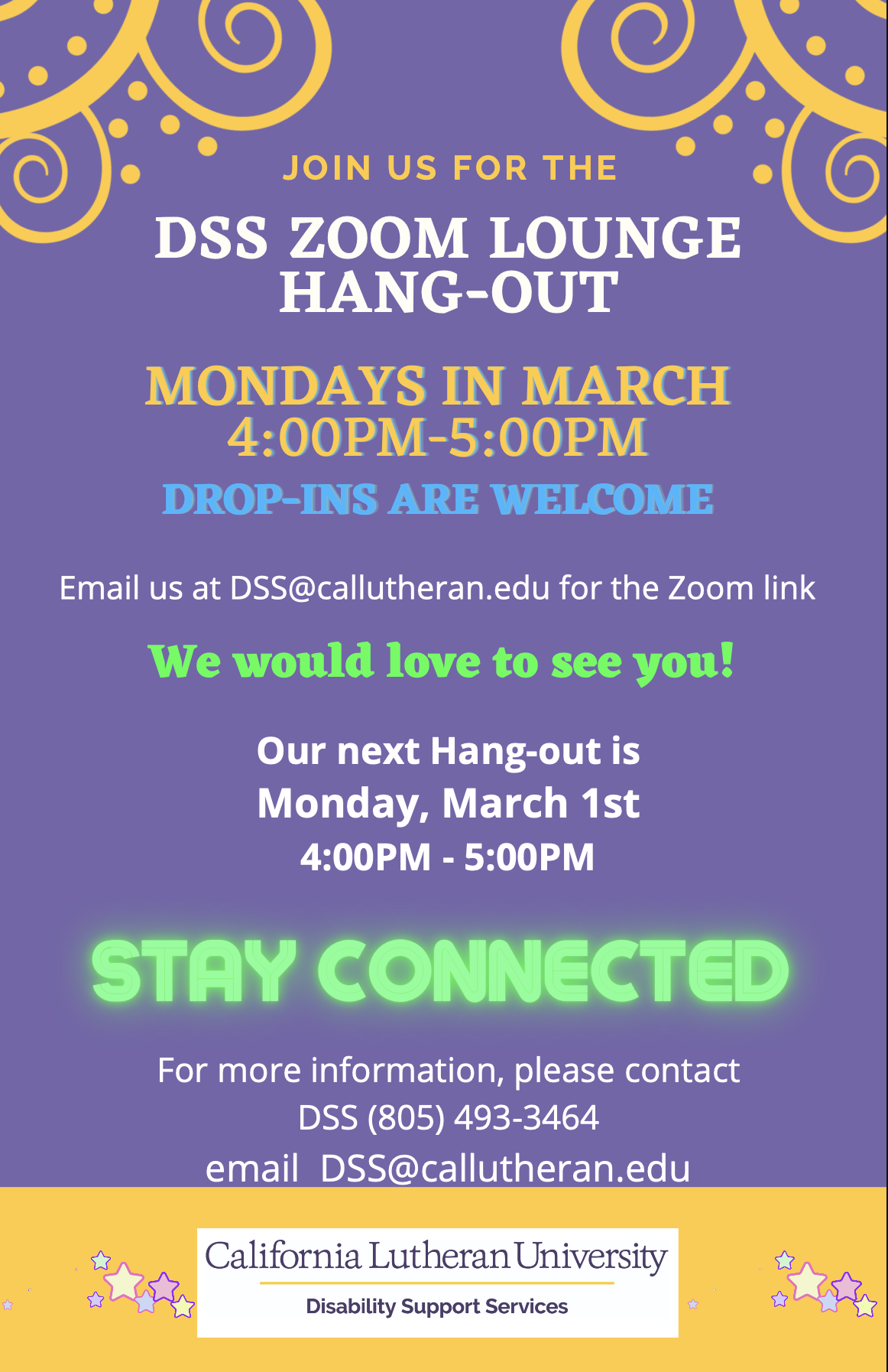 Zoom Lounge Hang-Out Flyer