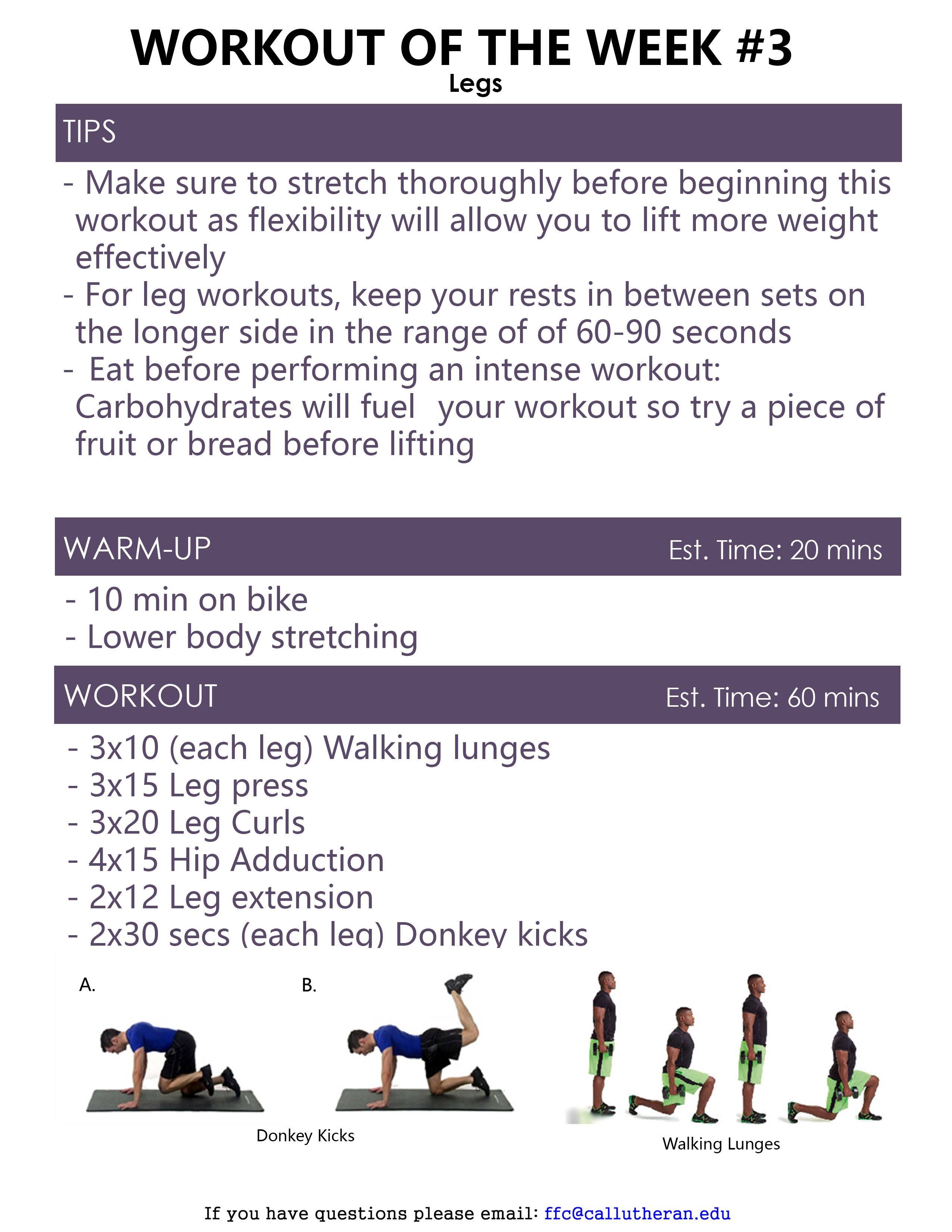 Workout of the Week - Forrest Fitness Center | Cal Lutheran