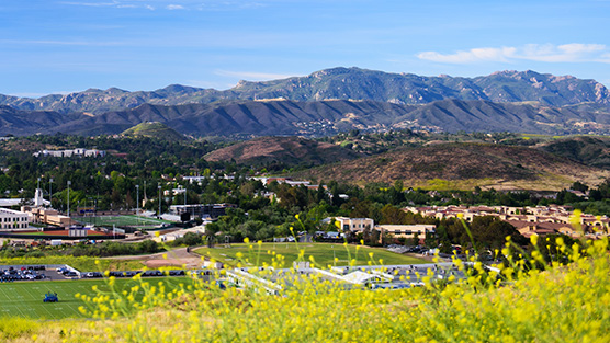 View of Santa Monica Mountains from Campus