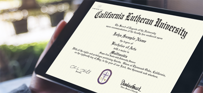 Diploma on Tablet