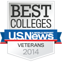 Ranked #3 Best College for Veterans in 2014